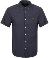 Lyle & Scott Short Sleeved Oxford Shirt Navy