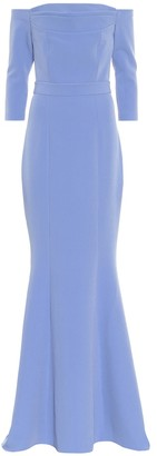 Safiyaa Off-the-shoulder crApe gown