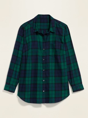 Old Navy Classic Plaid Flannel No-Peek Plus-Size Shirt