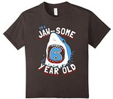 Kids 6th Birthday Boys Shark T-Shirt | Jaw-some 6 Year Old