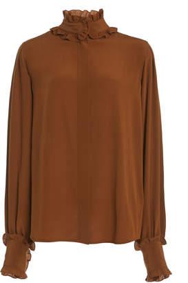 Victoria Beckham Ruffled Silk Victorian Blouse