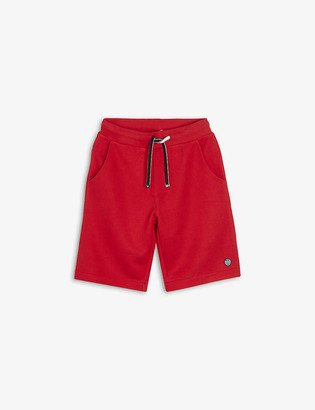 Emporio Armani Logo-embroidered cotton-blend shorts 4-16 years