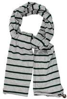 Donni Charm Fur-Trimmed Striped Scarf w/ Tags