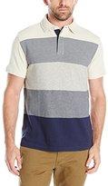 Nautica Men's Slim Fit Gradient Stripe Polo Shirt