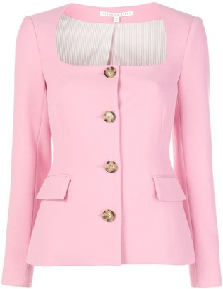 Veronica Beard Square Neck Button Up Jacket