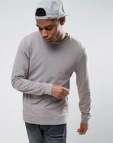 Asos Lightweight Muscle Sweatshirt In Gray