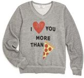 """Wildfox Couture Little Girl's & Girl's """"More Than Pizza"""" Printed Sweatshirt"""