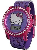SANRIO Hello Kitty Interchangeable Girl's Light-Up Digital Watch HK3017