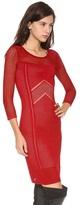 Catherine Malandrino Brooke 3/4 Sleeve Pointelle Dress