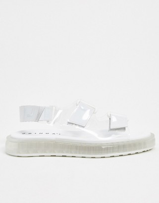 Joshua Sanders sandal with transparent sole in clear