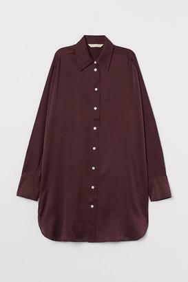 H&M Mulberry silk shirt tunic