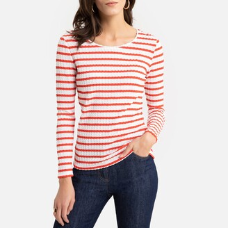 Anne Weyburn Striped Long-Sleeved T-Shirt