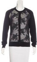 Erdem Cashmere Lace-Accented Cardigan