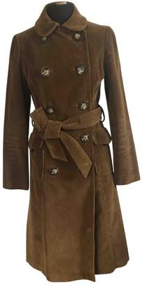 LK Bennett Camel Velvet Coat for Women