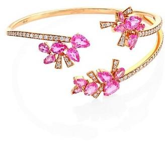 Hueb Mirage Diamond, Pink Sapphire & 18K Rose Gold Bracelet