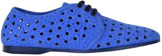 Dolce & Gabbana Blue Suede Lace ups