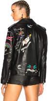 Valentino Tattoo Embroidery Leather Jacket