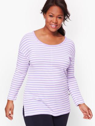 Talbots Open Back Stripe Pullover