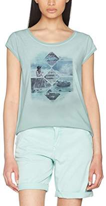 S'Oliver Women's 5706325223 T-Shirt, (White Placed Print 01D2)