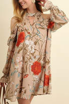 Umgee USA Tan Floral Dress