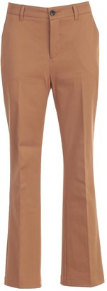 DEPARTMENT 5 Sax Pants Flare Cotton Stretch
