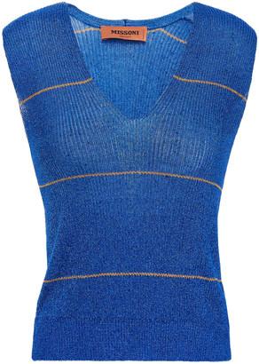 Missoni Metallic Striped Ribbed-knit Vest