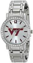 Game Time Women's COL-AS-VAT All Star Stone Bezel Triple Silver Analog Display Japanese Quartz Silver Watch
