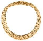 Buccellati 18K Textured Collar Necklace