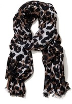 J.Mclaughlin Reed Wool Scarf in Watercolor Cheetah