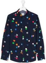 Paul Smith Teen plectrum print shirt