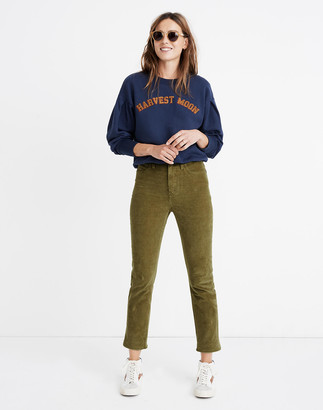 Madewell Petite Classic Straight Jeans: Corduroy Edition