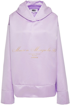 MM6 MAISON MARGIELA Oversized Cutout Metallic Printed Cady Hoodie