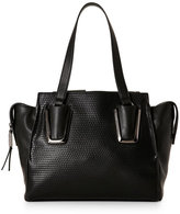French Connection Black Etta Embossed Satchel
