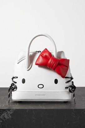 Balenciaga Hello Kitty Printed Leather Tote - White