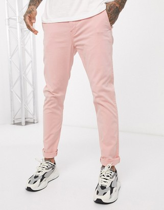 Levi's slim tapered fit chinos in rose tan shady wash