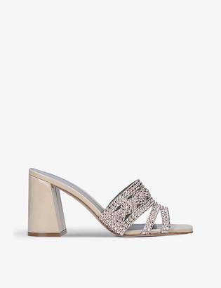 Gina Arizona embellished leather sandals