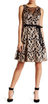 Jessica Simpson Embroidered Metallic Fit & Embroidered Dress