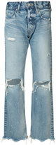 Moussy distressed high-rise jeans - women - Cotton - 27