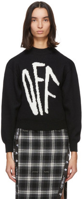 Off-White Black Graffiti Sweater