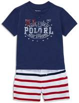 Ralph Lauren Boys' Henley Tee & Striped Shorts Set - Baby