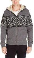 Lucky Brand Men's Siberian Printed Sherpa Hooded Sweatshirt