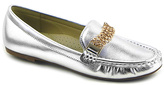 Silver Chain-Accent Loafer