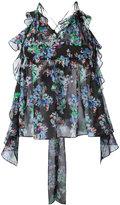 MSGM printed cami top - women - Silk/Polyester - 40