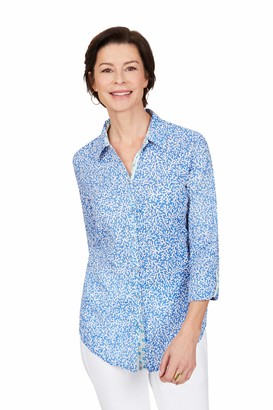 Foxcroft Women's Zoey Coral Reef Creased Shirt