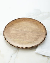 GG Collection G G Collection Wood Beaded Charger Plates, Set of 4