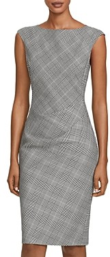 Lafayette 148 New York Della Virgin Wool Plaid Sheath Dress
