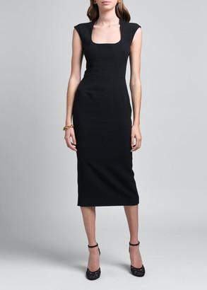 Dolce & Gabbana Cady Midi Cocktail Dress
