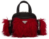 Prada Cargo faux-fur top handle bag