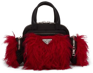 Prada Cargo faux-fur top handle bag