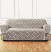 Sure Fit Lattice One-Piece Straight Skirt with Cord Sofa Slipcover Bedding